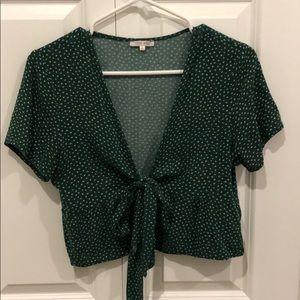 green floral tie shirt